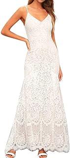 MAYOGO Cocktailkleid Damen Weiss Lang Abendkleider Slim fit Elegant Ballkleid Formelles Festliche Kleider