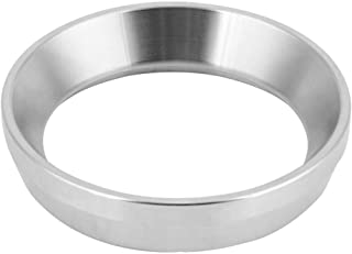 Espresso Dosing Funnel Coffee Dosage Rings Distributor Coffee Powder Ring Aluminum Alloy Black Stainless Steel Silver(Stainless Steel)