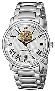 Frederique Constant Men's FC-315M4P6B3 Heart beat Stainless Steel Open Dial Bracelet Watch