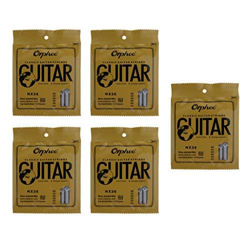 5 Sets Cuerdas de Guitarra Clásica 6 Cuerdas de Nílon