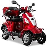 Rolektro E-Quad 25 V.2 Elektromobil Rot - 4-Rad Elektroroller 1000W - RW 50km - Koffer Rückwärtsgang USB EU-Zulassung
