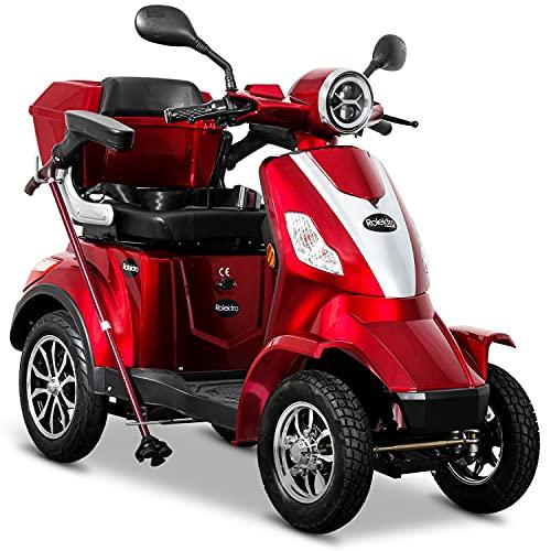 Rolektro E-Quad 15 V.2-15 km/h Elektromobil 4-Rad - Seniorenmobil mit 50 km Reichweite - 1000W Elektroroller mit Zulassung