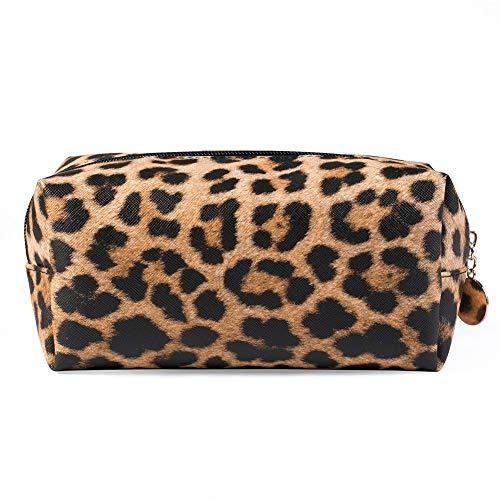 Women Storage Pouch Clutch Cosmetic Bag Leopard Print Makeup Large Capacity Practical Multifunctional PU Leather Purse Portable 2