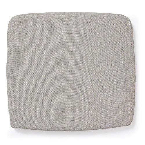 Kave Home - Cojín de silla Robert beige rectangular 44 x 40 cm de tela acrílica desenfundable para uso interior y exterior