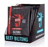 BEEFIT Snacks 10x30g Hohes Protein Biltong,Chilli, Gesund- Wenig Zucker, Nicht BEEF Jerky