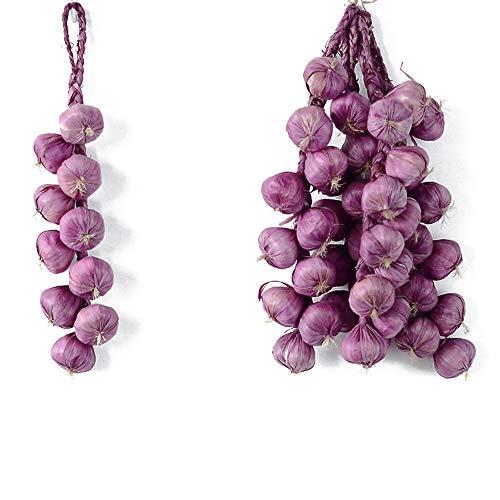 Ajo artificial de cebolla para colgar verduras, cuerda para decoración del hogar, accesorios de fotografía, B