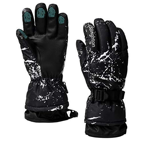 Guanti da sci impermeabili invernali caldi guanti freddi snowboard guanti touch screen per sport all'aperto uomini donne