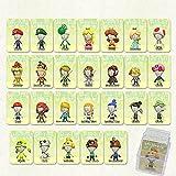 LUOWAN NFC-Tag - Juego de 26 tarjetas NFC para Miitopia NFC con funda de cristal compatible con Nintendo Switch/Wii U