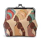 Mujer afroamericana en la Billetera Tradicional para Mujer, Hebilla, monederos, Monedero, Bolsa de Beso, Cambio, billeteras de Maquillaje para Viajes