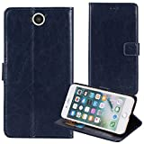 TienJueShi Dark Blue Book Stand Premium Retro Business Flip