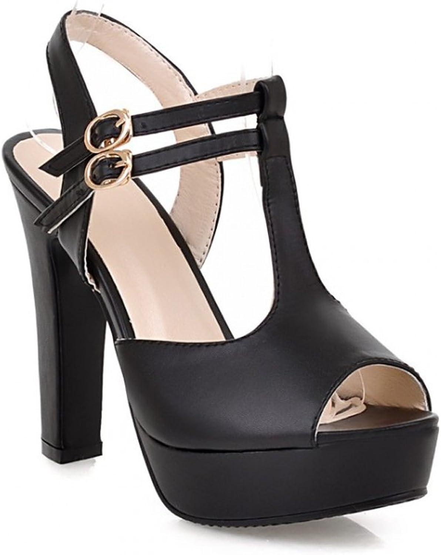 GATUXUS Women Open Toe Platform High Heel Pumps Strap Sandals shoes for Party