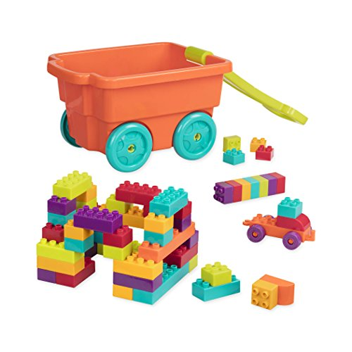 Battat - Locbloc Wagon - Building Toy Blocks for Toddlers (54 pieces)