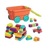 Battat – Locbloc Bausteine wagen – Bollerwagen mit Baublöcken für Kinder (54 Teile)