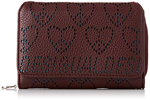 Desigual Wallet True Love Maria Mini, Billetera para Mujer, Rot (Ruby Wine), 9.5x3.5x14 Centimeters (B x H x T)