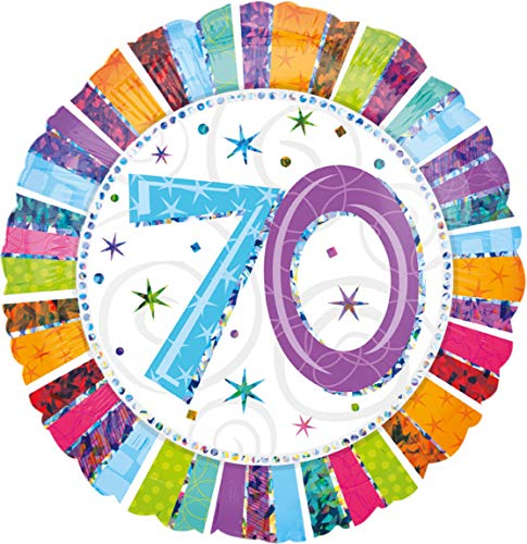 Folienballon 70 Radiant Birthday, ca. 18 x 45 cm