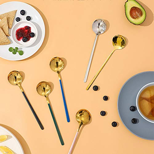Cucchiaini Da Tè, Cucchiai Da Minestra, LJR Cucchiaio Da Cucina In Robusto Acciaio Inossidabile Per Gelato Purè Di Patate Preparato 4 Pezzi Cucchiaio Da Minestra Artigianale In Stile Cinese