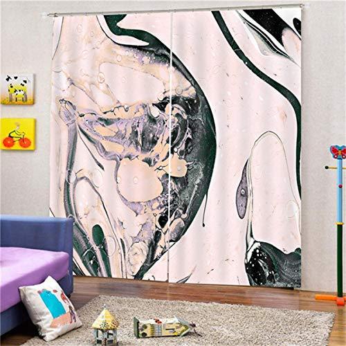 HAOTTP Blackout Vorhang 3D Mit Haken Digitaldruck Granit Eleganfloral Fenster Panel Sheer Schal Volants Für Wohnzimmer Kinder Für Schlafzimmer 200X200Cm
