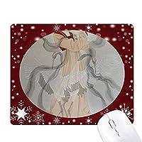 扇子美人中国絵画 オフィス用雪ゴムマウスパッド