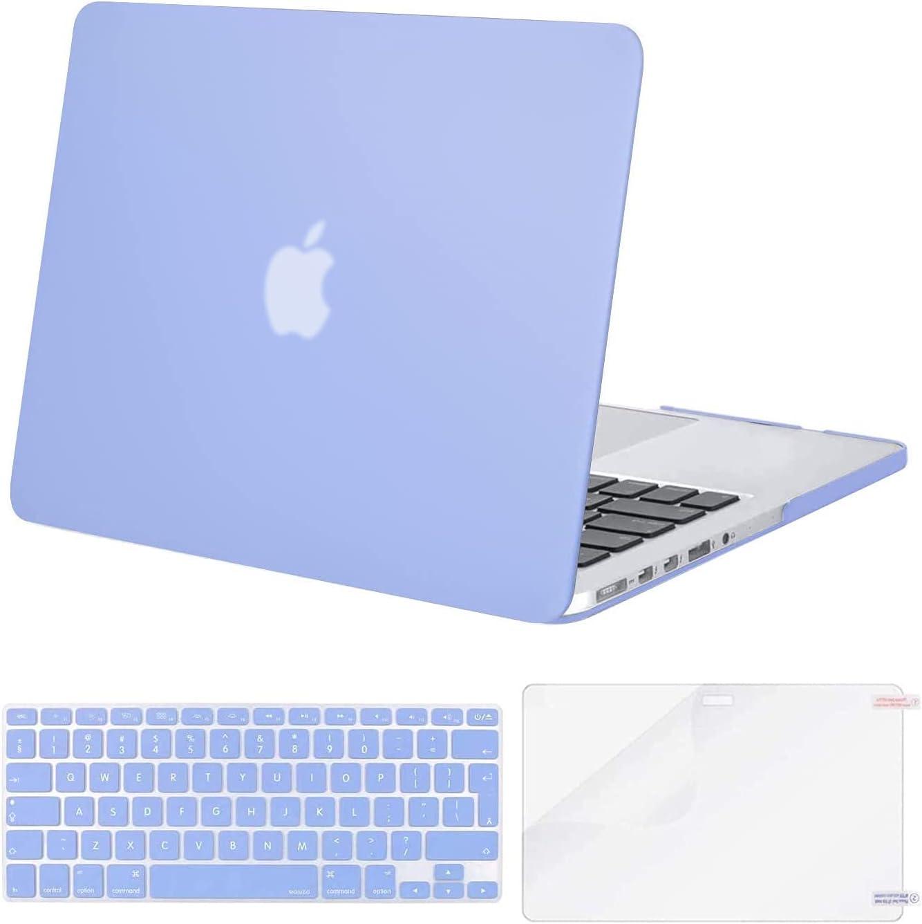 MOSISO Funda Dura Compatible con MacBook Pro 13 Retina A1425 / A1502 (Versión 2015/2014/2013/fin 2012), Carcasa Rígida de Plástico & Cubierta de Teclado & Protector de Pantalla, Azul Serenidad