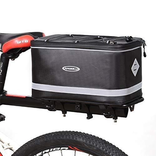 Lixada Bolsa Trasera para Bicicleta Impermeable 7/12L con Funda Impermeable para Lluvia Maletero para Bicicleta
