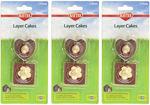 Kaytee 3 Pack of Chew Toy Layer Cakes, 2 Pieces Each