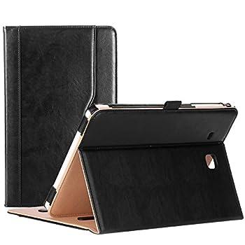 ProCase Galaxy Tab E 9.6 Case – Vintage Stand Folio Case Cover for Galaxy Tab E 9.6 / Tab E Nook 9.6-Inch Tablet  SM-T560 / T561 / T565 and SM-T567V Verizon 4G LTE Version  -Black