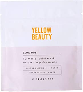 Yellow Beauty Face Mask (1.4 oz) - 100% Natural, Vegan and Cruelty Free with Turmeric and Kaolin Clay, Great for Polishing Skin, Detoxing Pores and Leaves You Glowing, 10 Use Pouch