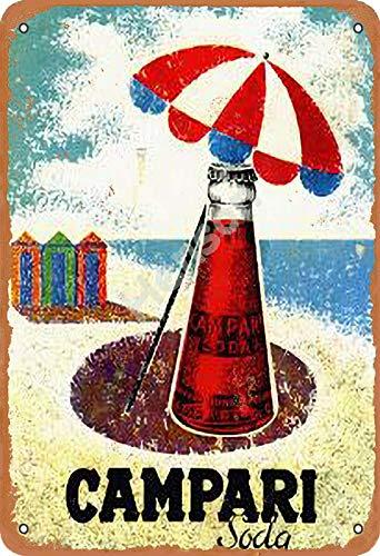 No/Brand Campari Soda Metall Blechschild Retro Metall gemalt Kunst Poster Dekoration Plaque Warnung Bar Garage Party Hauptdekoration