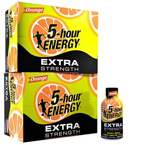 5-hour ENERGY Shot, Extra Strength Orange, 1.93 Ounce, 24 Count