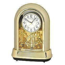 Rhythm Clocks Crystal Dulcet II Musical Motion Mantel Clock, Champagne