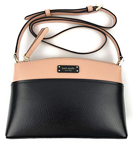 Kate Spade New York Jeanne Crossbody Shoulder Handbag Purse (Warmvellum/black)