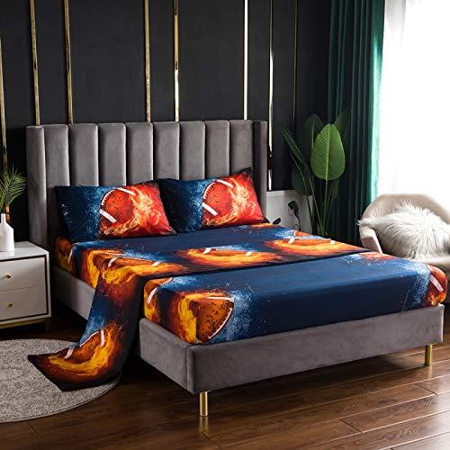 Xiaomizi Sábanas, cama doble, colchón super suave anti-pliegue, 99x190Tres ropa de cama