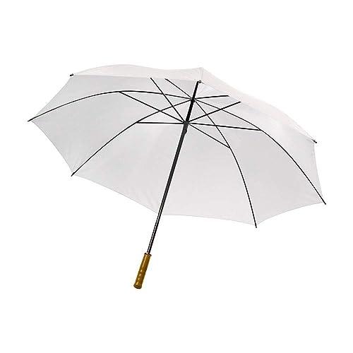 406b30fb1e7c7 eBuyGB Pack of 2 Large Wedding Parasol Folding Umbrella, White, 51