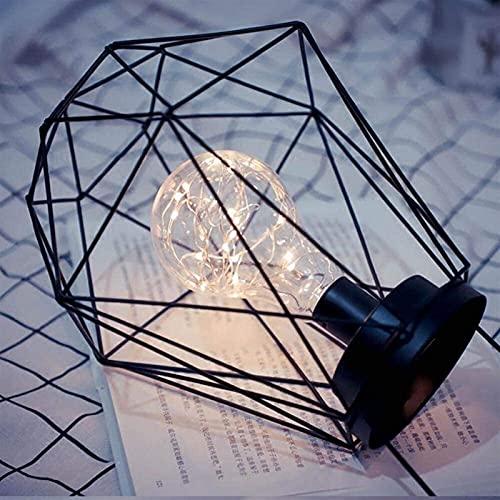 Rnwen Creativa, brillante, minimalismo, lampada da tavolo a LED in ferro fatta a mano, luce notturna a LED dal design cavo, camera da letto con corpo lampada in ferro, decorazione, fidanzata, fidanzat