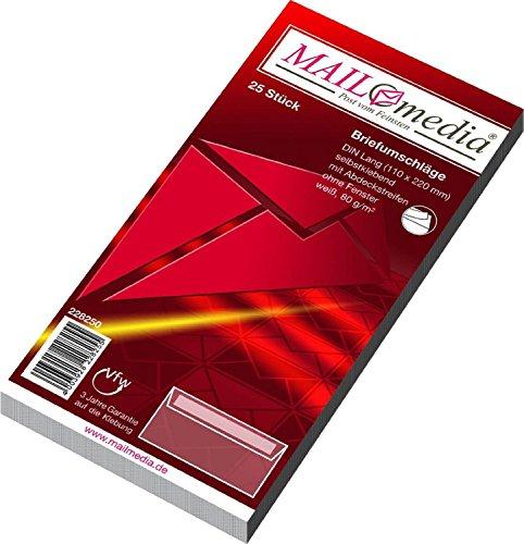 Elepa - rössler kuvert 228250 MAILmedia Briefumschlag Offset weiß, DIN Lang, ohne Fenster