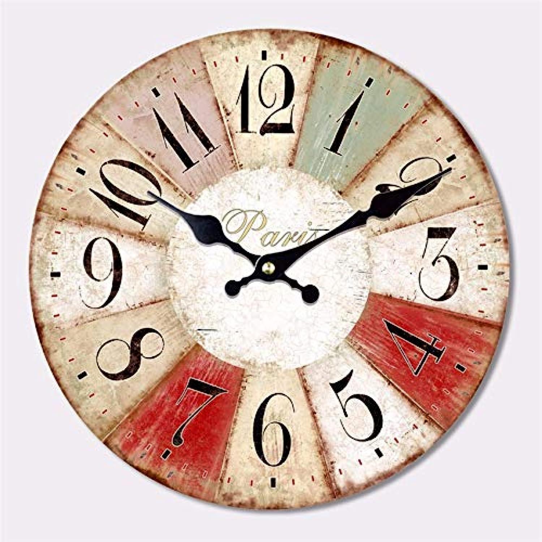 buscando agente de ventas FORTR Home Sala Sala Sala de Estar Reloj de Parojo Europeo Pastoral Creativo Reloj de Madera Moda casa Vintage Decorativo Reloj de Cuarzo (Color   Beige)  Descuento del 70% barato