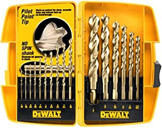 DEWALT Drill Bit Set with Pilot Point, 16-Piece (DW1956)
