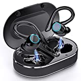 Andfive Wireless Earbuds, [2021 New Model] Bluetooth 5.1 Headphones in Ear with Earhooks, Wireless Sport Headphones for Running, Bluetooth Earphones Noise Cancelling Deep Bass, IP7 Waterproof Headset