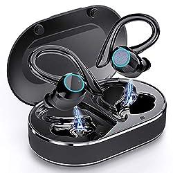 Bluetooth 5.1 [Version Améliorée]: Andfive véritables ecouteur Bluetooth adoptent la nouveau technologie Bluetooth 5.1, puissante pour une transmission plus stable et une consommation d'énergie plus faible, ce qui prolonge considérablement la distanc...