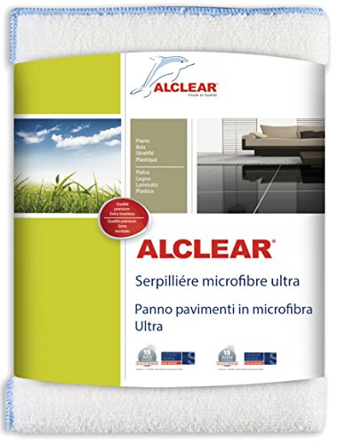 ALCLEAR 950009 Ultra microvezel vloerkleed voor het reinigen van tegels, marmer, laminaat, parketvloeren, 60 x 40 cm, wit