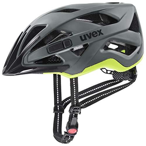 uvex Unisex– Erwachsene City Active Fahrradhelm, anthrazit-Lime mat, 52-57 cm