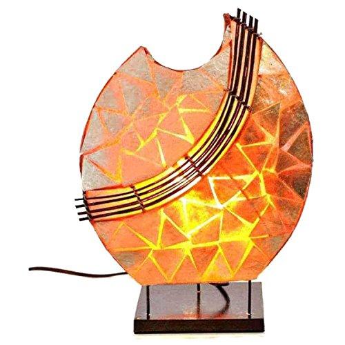 Deko-Leuchte Stimmungsleuchte Stehleuchte Tischleuchte Tischlampe Bali Asia PERLMUTT 36 cm Color Orange