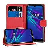 Huawei Y6 Y6s Pro 2019/Honor 8A Pro - Funda de piel tipo cartera para Huawei Y6 Y6s Pro 2019/Honor 8A Pro 6.1' [cierre magnético] (rojo)