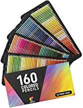 160 Colored Pencils Set by Zenacolor - Colored Pencils for Adults and for Kids - Color Pencils For Artists With Cardboard Case - Professional Coloring Pencils for Adult Coloring Book
