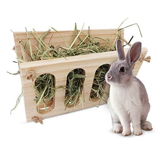 Comedero de heno para conejos Pesebre de heno...