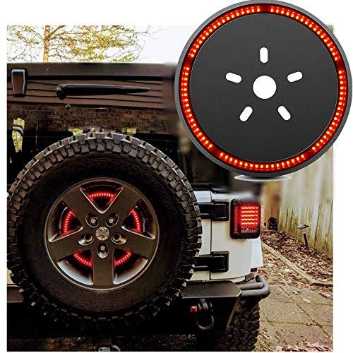 Spare Tire Brake Light for Jeep Back Tire Lights, Led Brake Light Ring for 1987-2020 Wrangler 2007-2017 JK JKU YJ TJ Wheel Lights