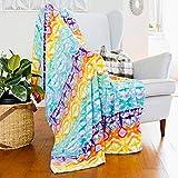 AVAFORT Velvet Plush Home Fleece Throw Blanket for Couch Sofa Bed, Warm Elegant Fuzzy Flannel Blanket for Kid Baby Adults or Pet, Lightweight Soft Cozy Warm Luxury Microfiber Blankets (Tie Dye)
