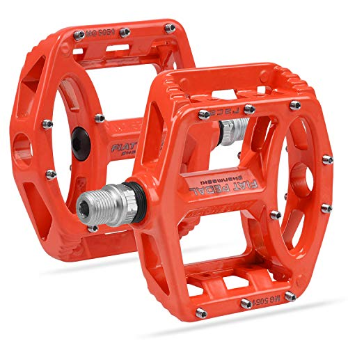 Vanfrost MTB Bike Pedal Mountain Bike Pedals with High-Strength Non-Slip Bicycle Pedals Surface (Red)