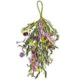 Floraciones de verano y abejorro Floral lágrima Swag - Flores florales artificiales, rosa, naranja y blanco-C