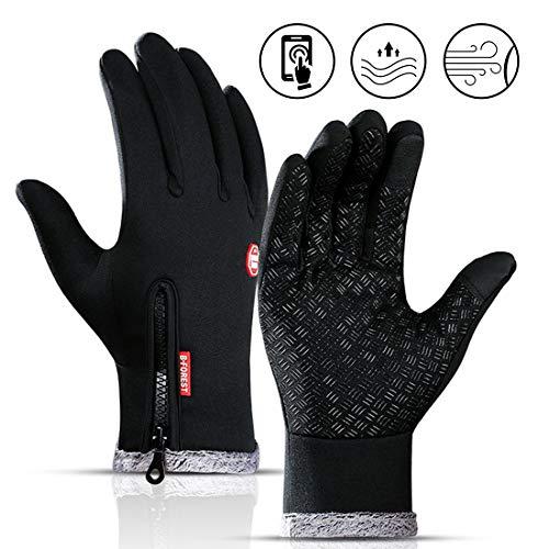 Fahrradhandschuhe, Winter Handschuhe, Outdoor-Sporthandschuhe, Mountainbike Handschuhe mit Touchscreen Finger für Radsport,Road Race, Downhill, Wandern, Fahrradhandschuhe Männer und Frauen (L)